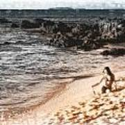 Duotone Beach Scene Poster