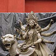 Durga In Kumartuli Poster by Shaun Higson