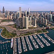Dusable Harbor Chicago Poster