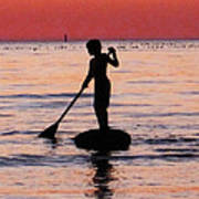Dusk Float - Sunset Art Poster