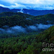 Dusk In The Smoky Mountains   Poster