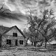 Dust Bowl Era Farm House Poster