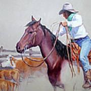 Dusty Work Poster by Randy Follis