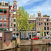 Dutch Canal Houses In Amsterdam Poster