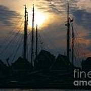 Dutch Harbour By Night Poster