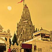 Dwarka Krishna Temple Poster