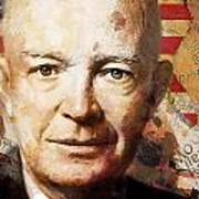 Dwight D. Eisenhower Poster by Corporate Art Task Force
