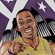 Dwight Howard Welcome To The  Lake Show Poster by Israel Torres