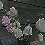 Dying Grieving Flowers Poster