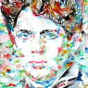 Dylan Thomas - Watercolor Portrait Poster