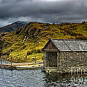 Dywarchen Boathouse Stormy Poster