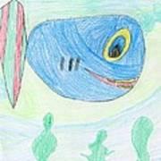E' S Blue Fish Poster