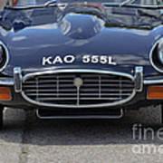 E Type Jaguar V12 Poster