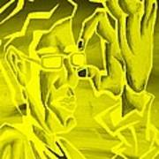 E Vincent Negative Yellow Poster