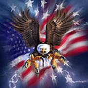 Eagle Burst Poster