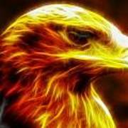 Eagle Glowing Fractal Poster