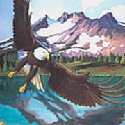 Eagle Oregon Lake Poster