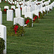 Eagle Point National Cemetery At Christmas Poster