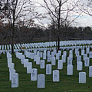 Eagle Point National Cemetery In Winter 1 Poster