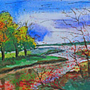 Early Autumn Landscape Poster