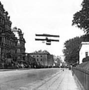 Early Biplane Flight Poster