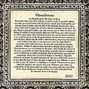 Early Gothic Style Desiderata Poster