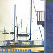 Early Morning Camden Harbor Maine Poster