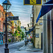 Early Morning In French Quarter Nola Poster