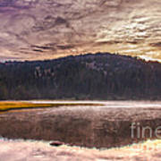 Early Morning Lake Light Poster by Robert Bales