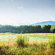 Early Morning Mist In The Valleys And Farmlands Of The Blue Ridge Mountains Poster