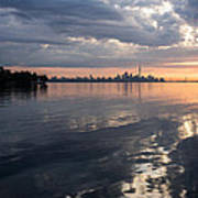 Early Morning Reflections - Lake Ontario And Downtown Toronto Skyline  Poster