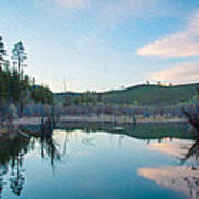Early Sunset On A Beaver Pond  Poster