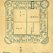 Early Version Of Monopoly Board Game Patent Poster