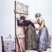 Early Victorian Peeping Women Poster