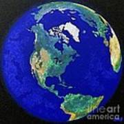 Earth From Space America Poster