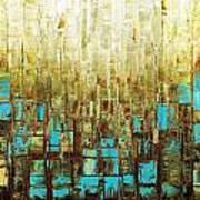 Abstract Geometric Mid Century Modern Art Poster