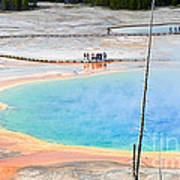 Earth Rainbow - Overhead View Of Grand Prismatic Spring In Yellowstone National Park.  Poster