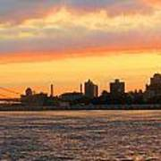 East River At Sunrise Poster