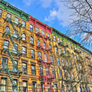East Village Buildings On East Fourth Street And Bowery Poster