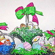 Easter Baskets In A Row  Poster