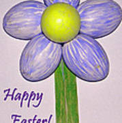 Easter Egg Flower Poster