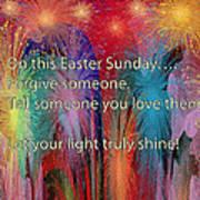 Easter Inspiring Digital Painting Poster