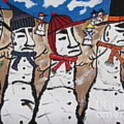 Easter Island Snow Men Poster