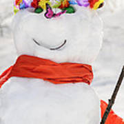 Easter Snowman Poster