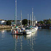 Eastern Side Moorings - Ryde Harbour Poster