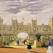 Eastern View Of The Castle And Garden Poster