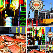 Eat Drink Play Repeat San Francisco 20140713 Horizontal Poster