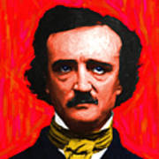 Edgar Allan Poe - Painterly - Square Poster