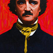 Edgar Allan Poe - Painterly Poster by Wingsdomain Art and Photography
