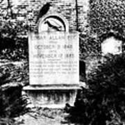 Edgar Allen Poe Grave Site Baltimore Poster